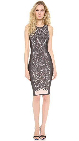 Herve Leger Vivien Sheath Dress