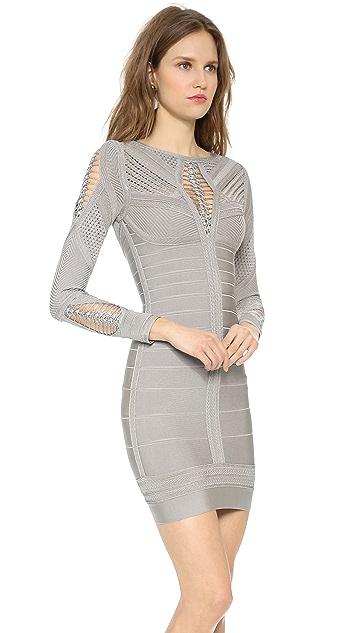 Herve Leger Roselynn Cocktail Dress