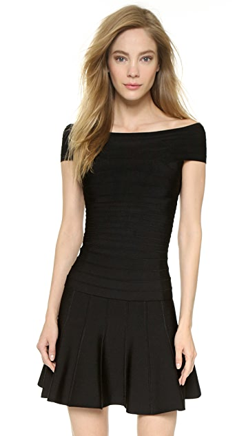Herve Leger Boat Neck Top