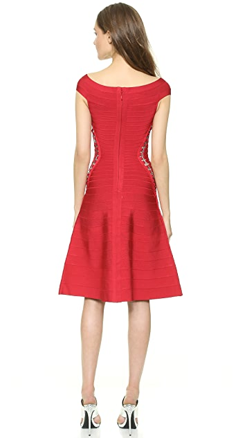 Herve Leger Alysa Cocktail Dress