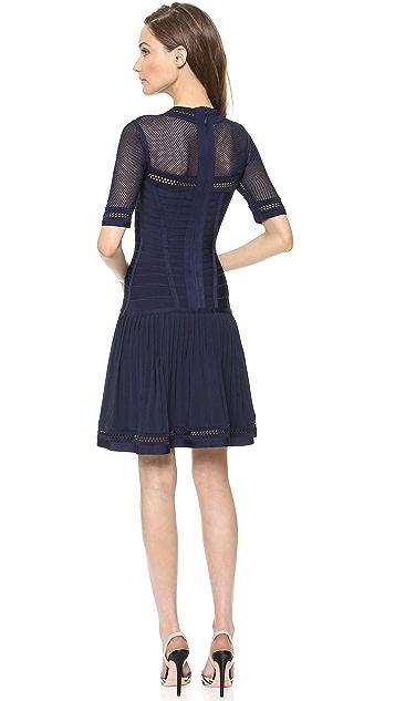 Herve Leger Haylynn Dress with Sheer Detail