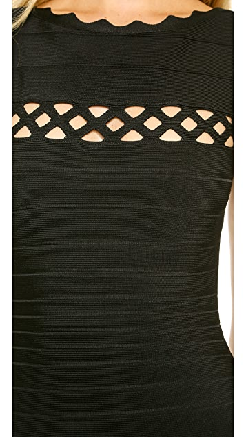 Herve Leger Sleeveless Maxi Dress