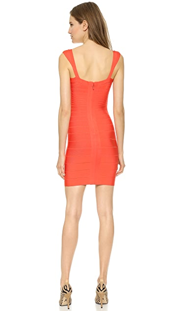 Herve Leger Abrielle Cocktail Dress