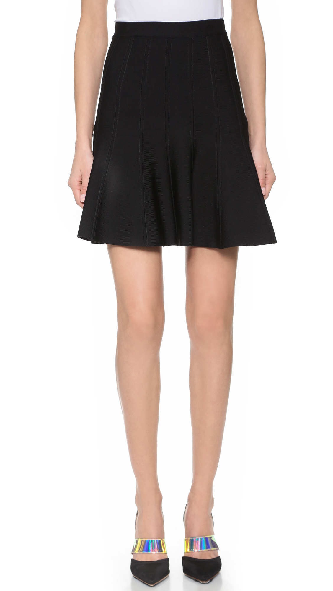 Herve Leger Sabine Skirt - Black
