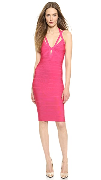 Herve Leger Lucee Cocktail Dress