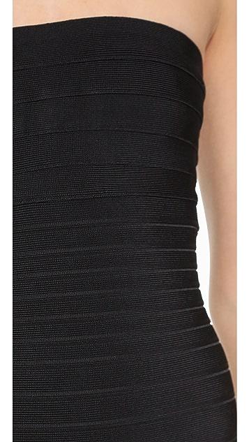 Herve Leger Fernanda Strapless Dress