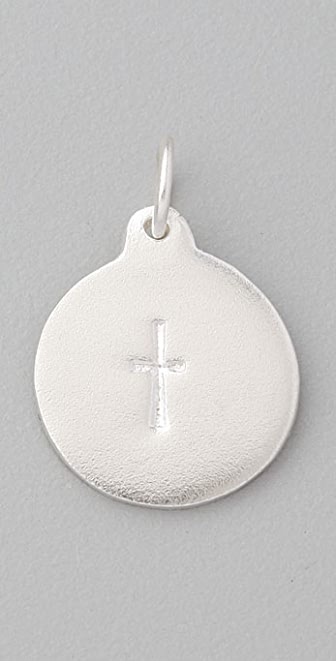Helen Ficalora Stamped Cross Charm