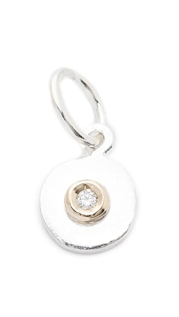 Helen Ficalora Baby Disc With Diamond Charm
