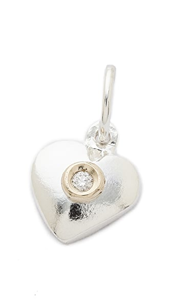 Helen Ficalora Heart With Diamond Charm