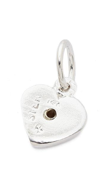 Helen Ficalora Heart With Diamond Charm