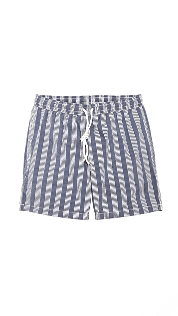 Hartford Seersucker Stripe Swim Trunks
