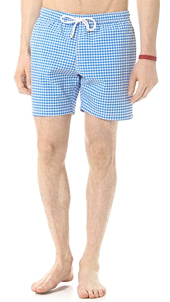 Hartford Seersucker Gingham Swim Trunks