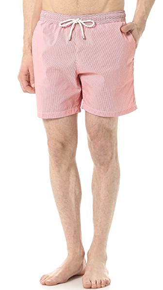 Hartford Seersucker Swim Trunks