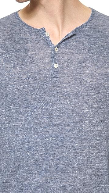 Hartford Linen Long Sleeve Henley