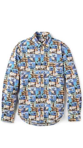 Hartford Surfing Print Shirt