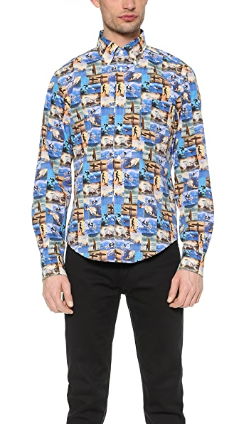 Hartford Surfing Print Shirt