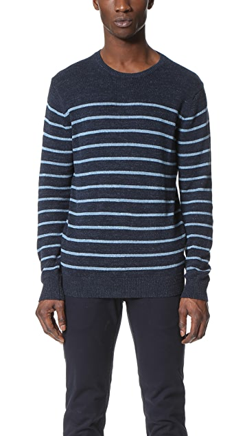Hartford Striped Crew Pullover