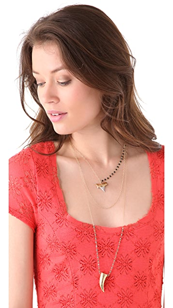 Heather Hawkins Gold Horn Pyrite Necklace