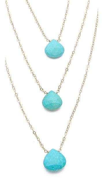 Heather Hawkins Three Tier Stone Necklace