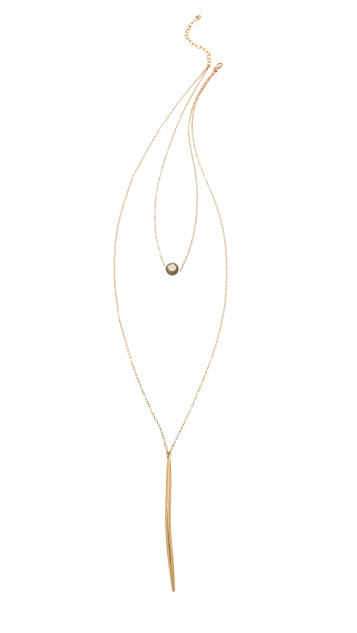 Heather Hawkins Pyrite Dagger Necklace