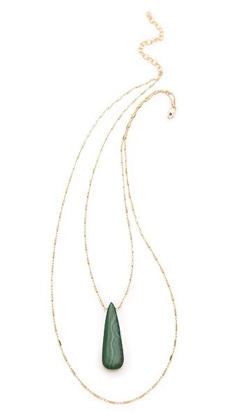 Heather Hawkins Malachite Layered Necklace