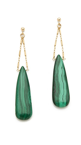 Heather Hawkins Cut Gemstone Drape Earrings