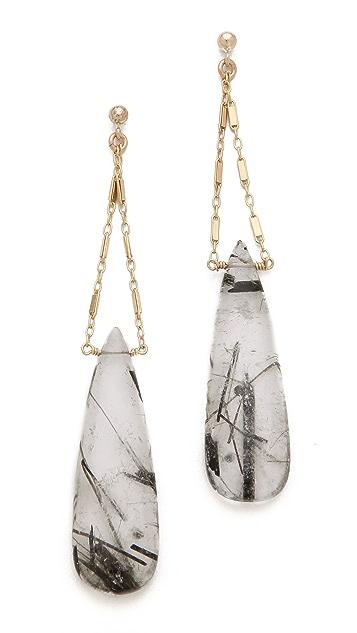 Heather Hawkins Cut Gemstone Earrings