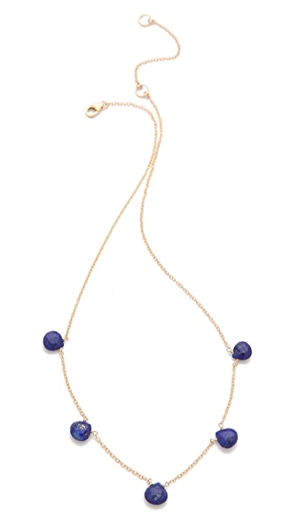 Heather Hawkins Tiny 5 Gemstone Necklace