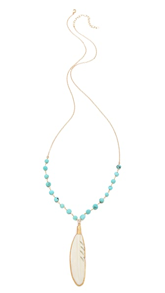 Heather Hawkins Feather Goddess Necklace