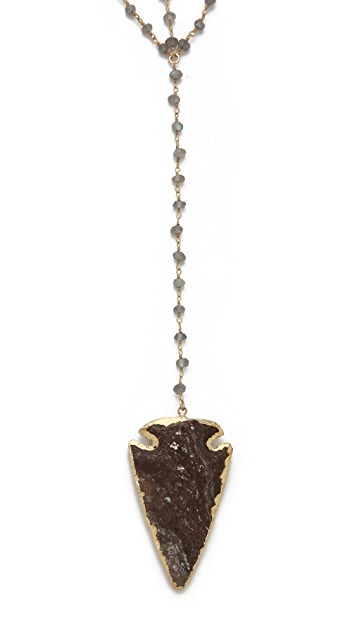 Heather Hawkins Arrowhead Double Y Necklace