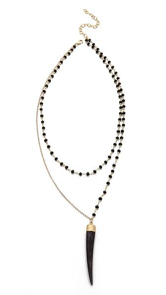Heather Hawkins Bone Tusk Necklace