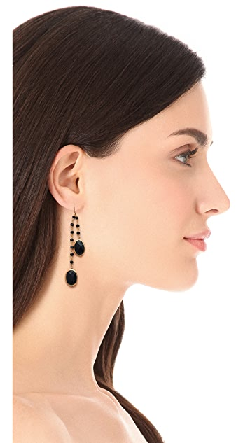 Heather Hawkins 2 Layer Bezel Gemstone Earrings