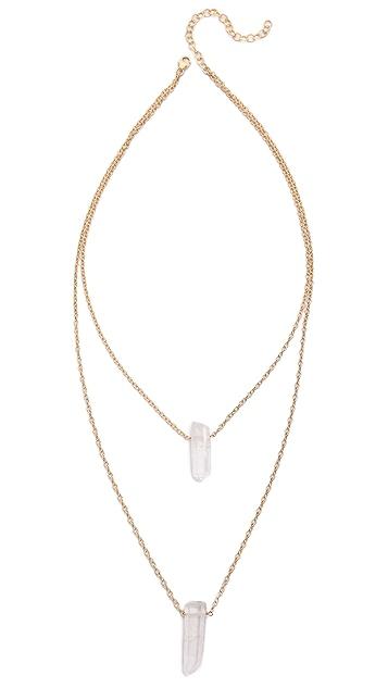 Heather Hawkins Double Kryptonite Necklace