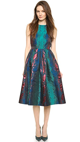 House of Holland Sleeveless Snake Jacquard Dress
