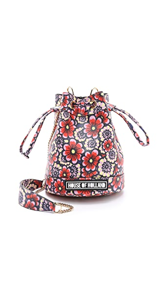 House of Holland Mini Bucket Bag