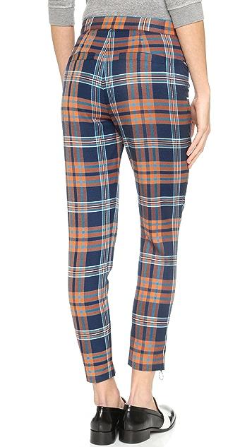 House of Holland Tartan Zip Trousers