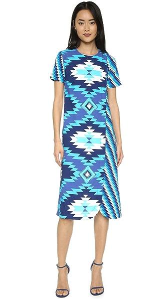 House Of Holland Long Wrap Dress - Blue Multi
