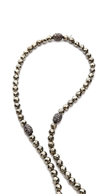 Hipchik Couture Buddha Pyrite Necklace