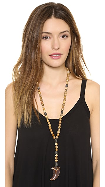 Hipchik Couture Agate Y Necklace