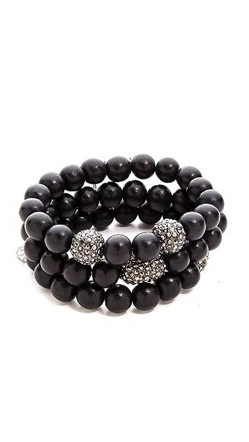 Hipchik Couture Wood Bead Bracelet Set