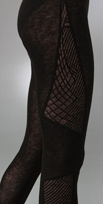 Helmut Lang Geometric Lace Leggings