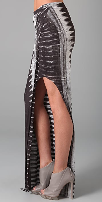 Helmut Lang Frequency Print Asymmetrical Skirt