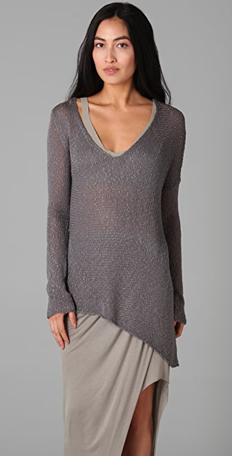 Helmut Lang Looped V Neck Sweater