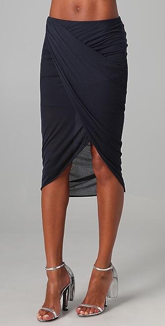 Helmut Lang Cross Draped Skirt