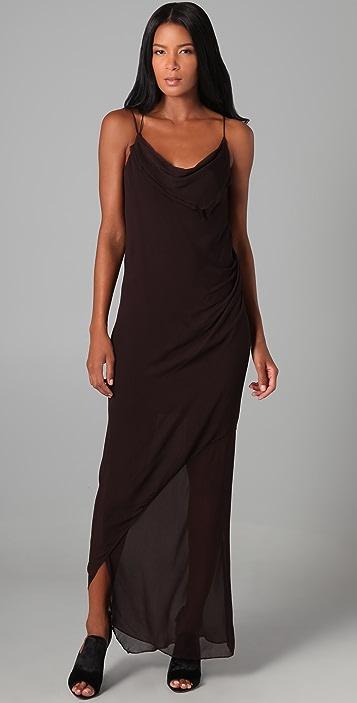Helmut Lang Long Drape Dress