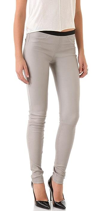 Helmut Lang Stretch Leather Skinny Pants