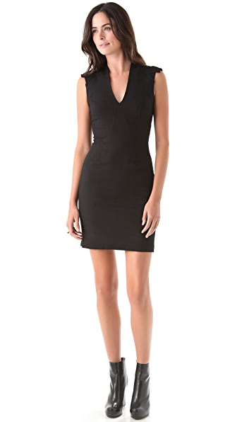 Helmut Lang Seamed Zip Back Dress