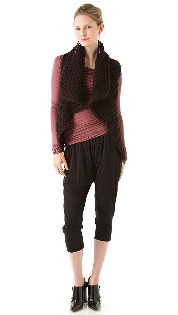 Helmut Lang Slack Jersey Asymmetrical Top
