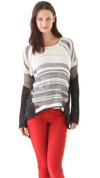 Helmut Lang Textured Melange Sweater