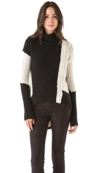 Helmut Lang Colorblock Turtleneck Sweater